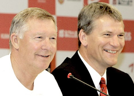David Gill & Sir Alex Ferguson