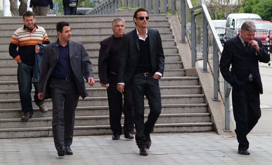 Berbatov with discreet ex-KGB team