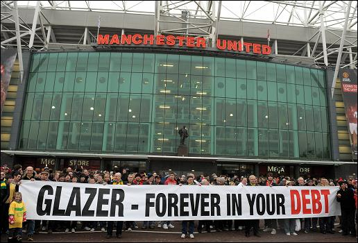 Glazer debt protest