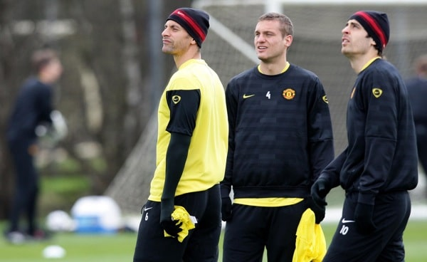 Training Session Rio Ferdinand Nemanja Vidic