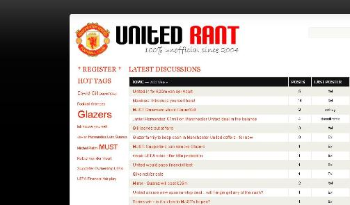 United Rant launches new forum