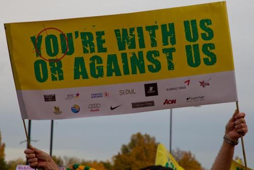 United Against Glazer march