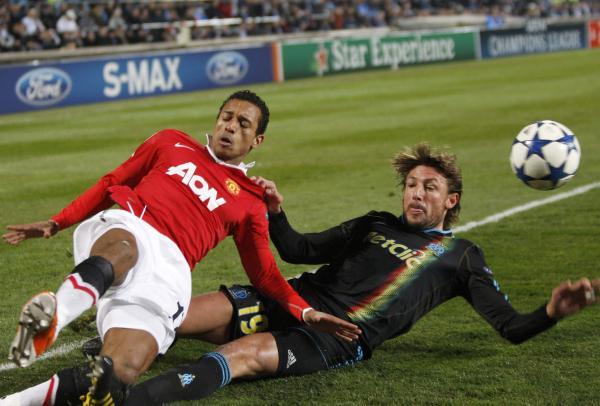 Nani Gabriel Heinze, Manchester United v Marseille