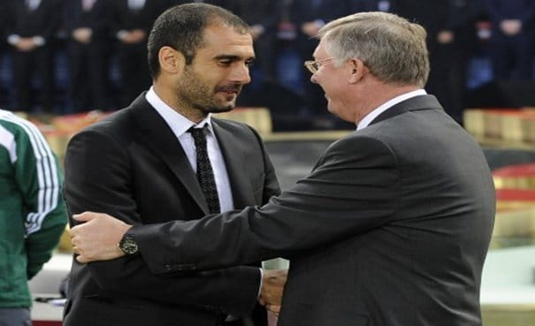 Pep Guardiola, Alex Ferguson
