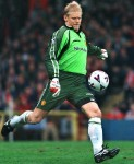 Peter Schmeichel 1992-1999  Surely the best goalkeeper to have ever played for the club. Schmeichel played eight glorious seasons at Old Trafford, lifting the Champions League before semi-retiring to Portugal in summer 1999.