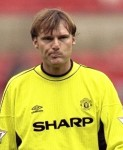 Massimo Taibi 1999–2000  Italian Taibi joined United for £4.5 million following Schmeichel's departure but played just five games for the club following a calamitous error against Southampton. The 'keeper allowed a Matt Le Tissier shot through his legs and with that went his United career.