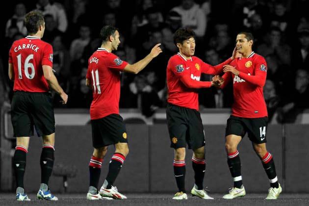 Javier Hernandez, Michael Carrick, Park Ji-Sung, Ryan Giggs