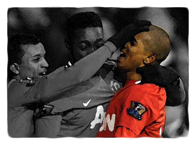 Ashley Young versus Tottenham Hotspur