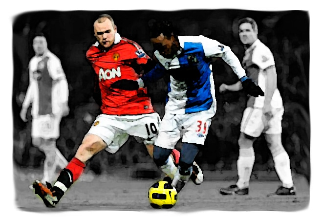 Blackburn Rovers versus Manchester United
