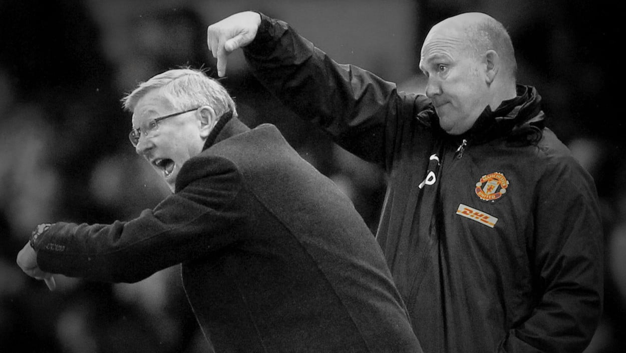 Alex Ferguson and Mike Phelan
