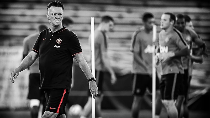 Louis van Gaal training
