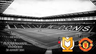 MK Dons v United, 26 August 2014