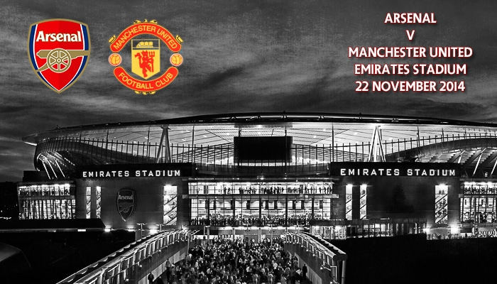Arsenal v Manchester United, Premier League, Emirates, 22 November 2014