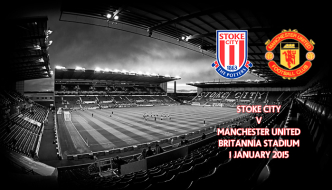Stoke City v Manchester United, Britannia Stadium, Premier League 1 January 2015