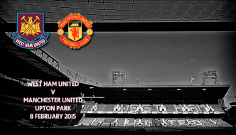 West Ham v Manchester United, Upton Park, Premier League, 7 February 2015