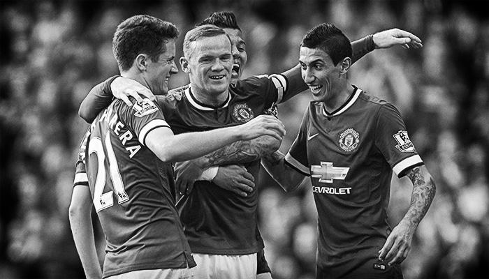 Wayne Rooney, Ander Herrera, Angel Di Maria
