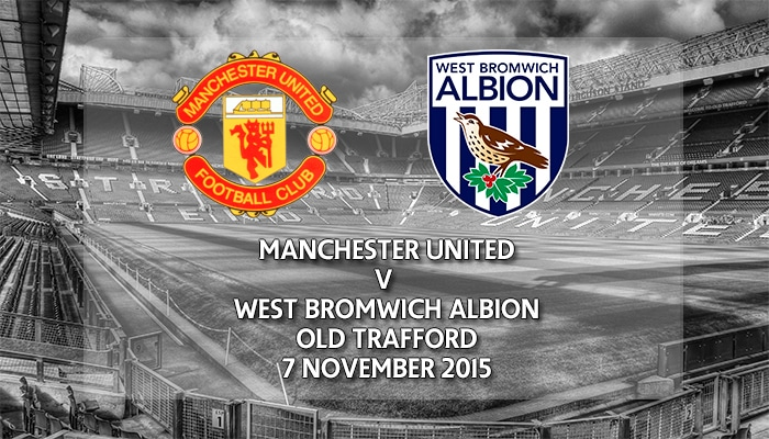 Manchester United v West Bromwich Albion, Premier League, Old Trafford, 7 November 2015