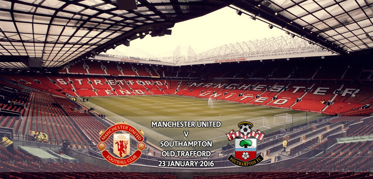 Manchester United v Southampton, Old Trafford, Premier League, 23 January 2016