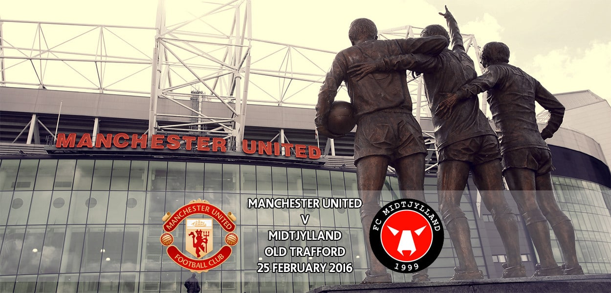 Manchester United v Midtjylland, Old Trafford, Europa League, 25 February 2016