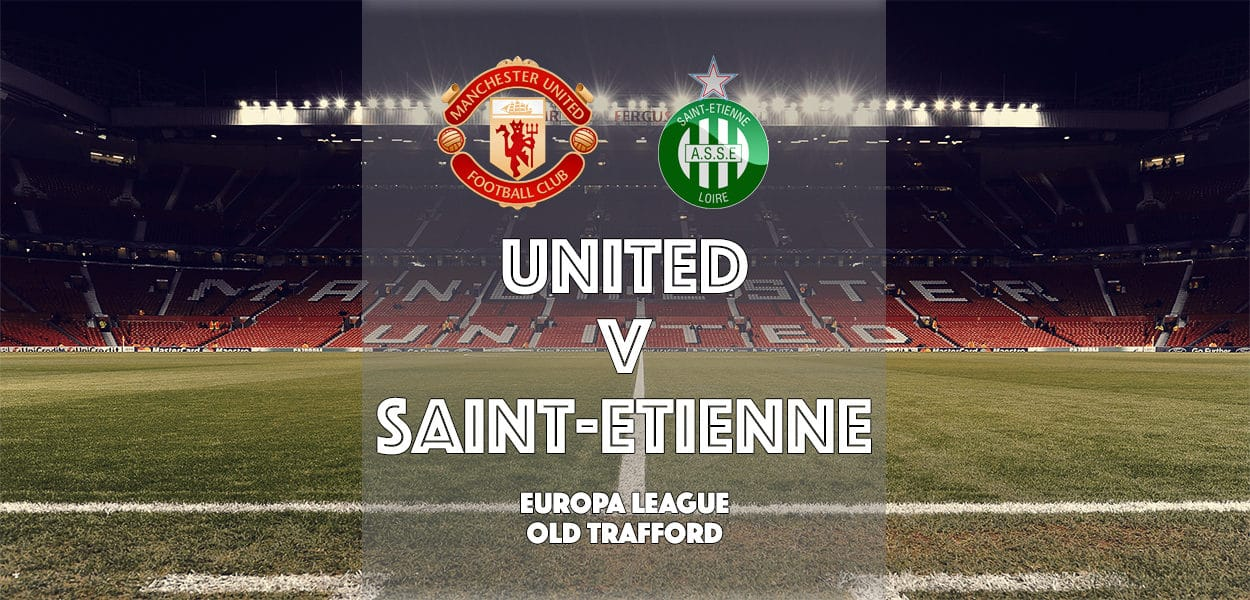 Manchester United v Saint-Etienne, Europa League, Old Trafford, 16 February 2017