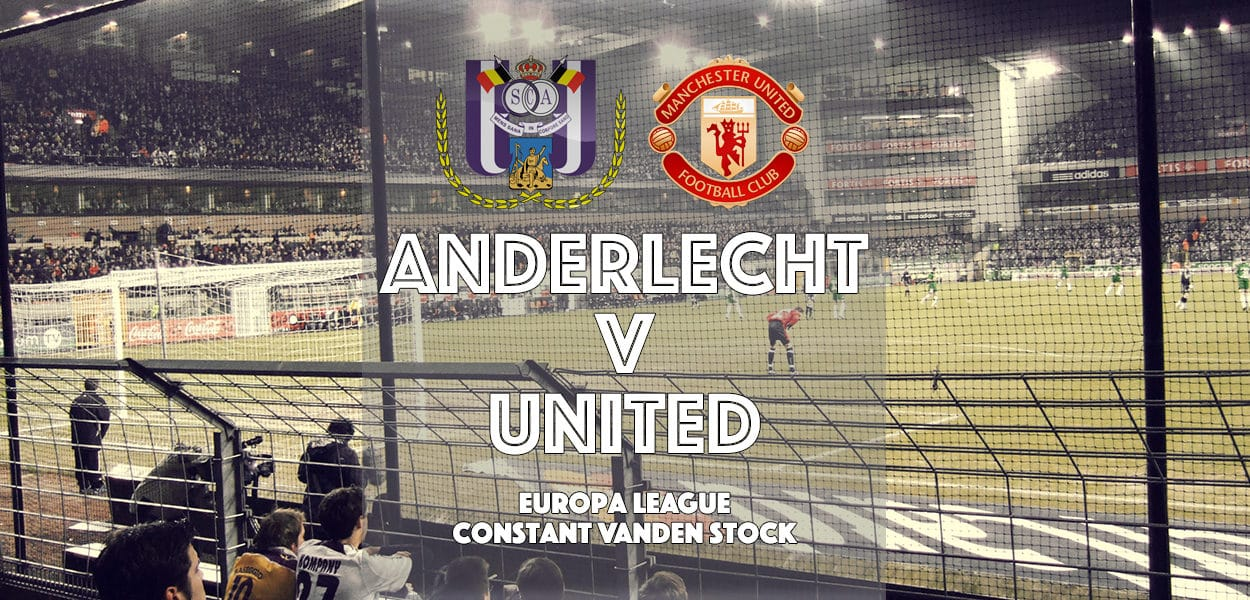 Anderlecht v Manchester United, Europa League, Constant Van Den Stock, 13 April 2017